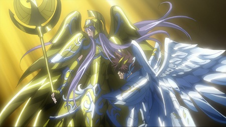 Athena and Pegasus in Divine Cloth - seiya, hades, pegasus, sasha, alone, saint, athena