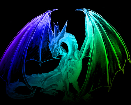 colored dragon - Fantasy & Abstract Background Wallpapers ...