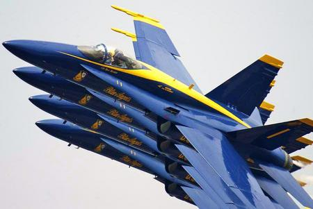 Blue Angels Squadron - performance, formation, squadron, air show, blue angels