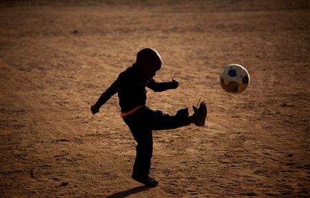 Football Everywhere - boy, african, football, world cup, south africa