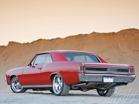 Red 67  Chevelle - gm, chevelle, chevy, 1967