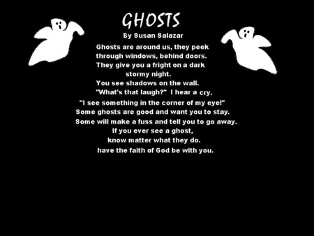 Ghost Poem - black, white, ghosts, poem
