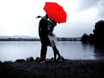 Love and the red umbrella