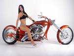 Costom Chopper With Hot Model