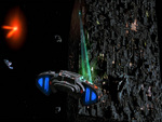 USS Defiant Engaging The Borg