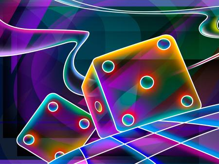 5 + 4   (colorful 3D) - colorful, quadrangle, 3d and cg, checked, cube, squares, dice, trippy, 3d, neon