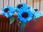 Blue sunflowers