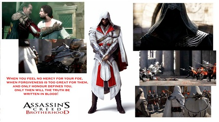 Assassin's Creed Brotherhood: Ezio's last battle - mario, assassins creed, templars, ezio, ac3