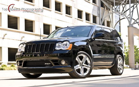Black 2008 Jeep Grand Cherokee SRT8 - cherokee, grand cherokee, 2008, black, grand, jeep, srt-8, srt8