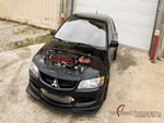 Black 2004 Mitsubishi Lancer Evolution VIII