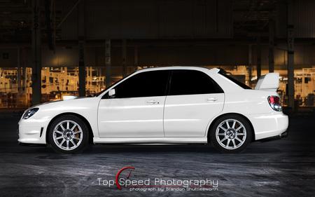White 2006 Subaru Impreza Wrx Sti Subaru Cars Background