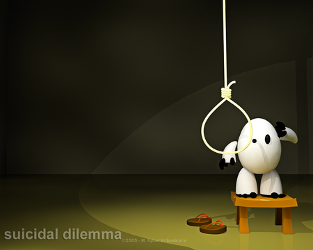 Suicidal dilema - egg, stool, god, lord, christ, jesus, death, question, table, suicide, lords, noose, black, of