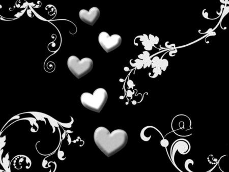 Silver Hearts Other Abstract Background Wallpapers On Desktop