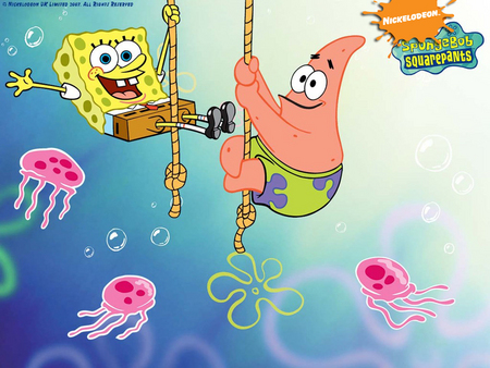 Spongebob And Patrick Tv Series Entertainment Background