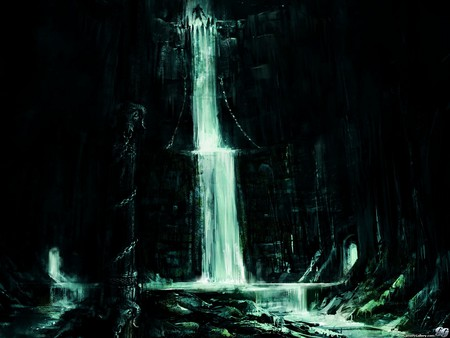 ArtWork-WaterFall - hd, action, prince of persia, ubisoft, pop, artwork, adventure, prince of persia-the two thrones, waterfall, 2005
