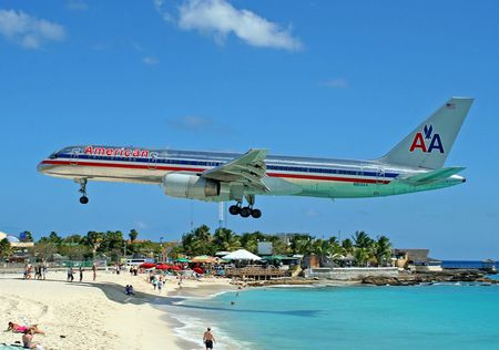 St Maarten Landing Commercial Aircraft Background Wallpapers On