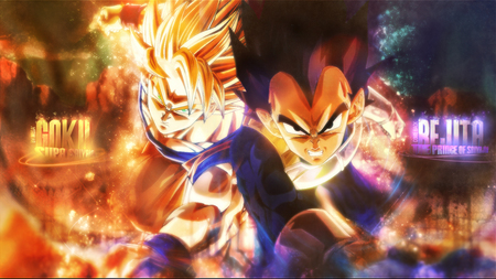 Goku And Vegeta Awesome Wallpaper