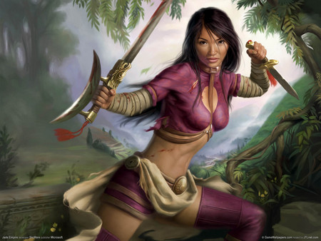 Samurai Girl - jade empire, fighting, hd, girl, adventure, game, samurai, action