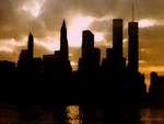 Manhattan Skyline Before 9/11