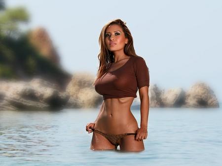Pam Rodrigues - pam, water, rodrigues, bikini