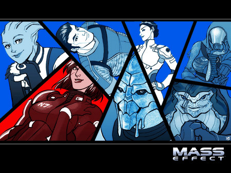 Mass Effect crew - ashley williams, bioware, mass effect, shepard