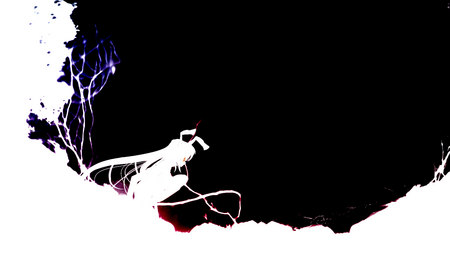 Lunatic Eyes - anime, reisen udongein inaba, touhou, contrast, silhouette, inaba, usagimimi