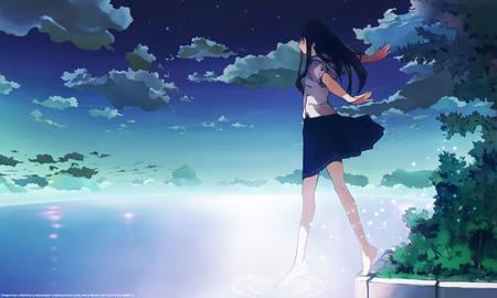 Walking on Air - walking, houden eizo, anime, air