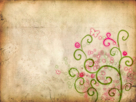 Natural Background - paper, vines, flower, background