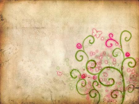 Natural Background - paper, vines, background, flower