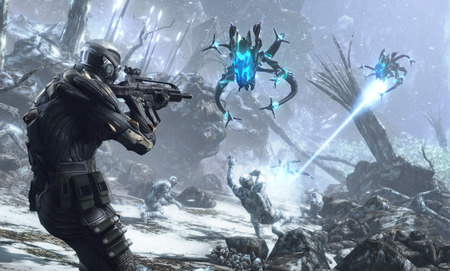 crisis alieans - gaming, fps, snow, shooter, crysis, crytek, pc