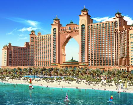 Art Hotel Atlantis Paradise - hotel, art, persian gulf, united arab emirates, uae, its so cool, dubai, artwork, the palm, atlantis paradise, island