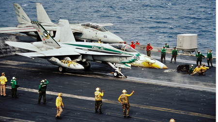 F18 Cat Launch. - f18, fighter, military, carrier, jet, deck, hornet