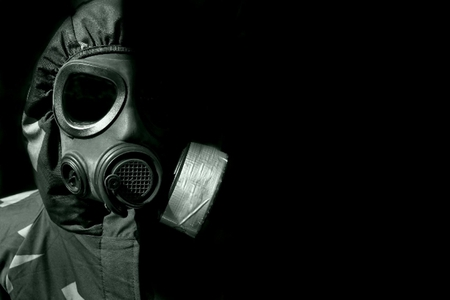 Gas Mask (3) - creepy, gas, shaded, black, mask