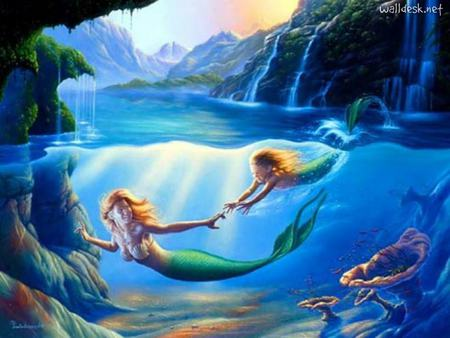 My Life Line Of Her Love - daughter, mother, her flesh, mermaid, mermaids, love