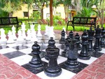 ~Huge Chess Board~Occidental Grand Xcaret Hotel~Playa Del Carmen, Mexico~