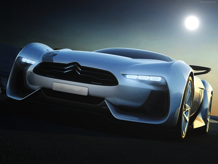 Citroen GT Concept - race, volkswagen, r32, audi, gt3, speed, moon, car, auto, neon, grand, citroen, gt2, night, fast, shadow, golf, mobile, gt concept, turismo