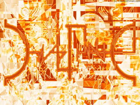Indefinable Science Logo Orange 4x3 - image, 83, space, manipulation, background, fine art, fantasy, wallpaper, surreal, claytone, art, photo, indefinable, music, visual, abstract, clayton ehman, science, digital, desktop, claytron