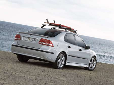 Going Surfing! - beach, saab, saab 9-3, car, surfing