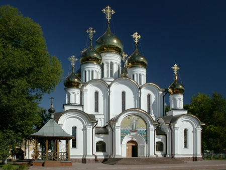 Nikolsky Womens Monastery - traditional, domes, religion, church, convent, ethnic, russia, nuns, crosses, soviet union