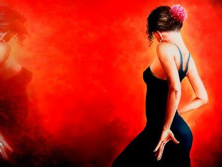 Bailarina espanola - flamenco, dancer, spanish, bailarina, espanola