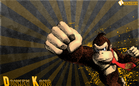 Donkey Kong - donkey kong, lockedgfx, nintendo, abstract