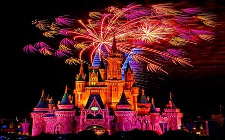 Disneys Land Fire Works Celebration 2