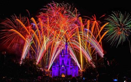Disneys Land Fire Works Celebration 3