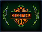 green harley wings