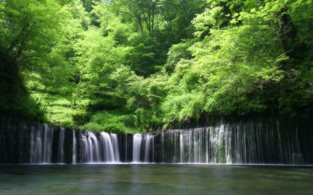 peaceful place waterfalls nature background wallpapers on