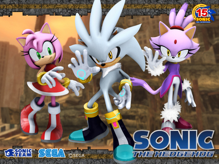 silver,amy,and blaze - video games, amy, silver, blaze