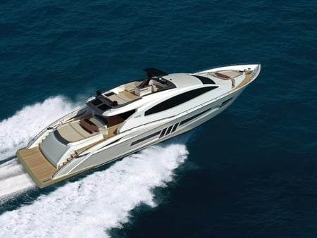 2009-Lazzara-Yachts-LSX-Ninety Two Running - yachts, lazzara, powerful, water, boat, white, lsx