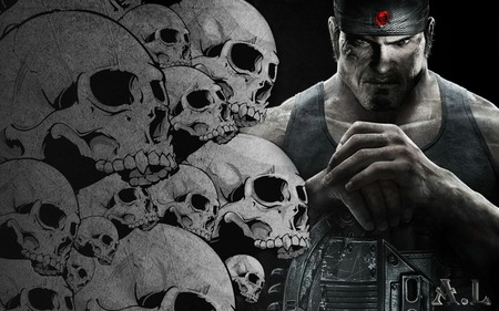 Marcus Fenix Skulls - gears of war 3, games, skulls, jt, cool, 3d, new, linkin park, entertainment, cog, iphon 4, fire, red, dom, video games, best, gow 3, avatar, marcus finix, angels