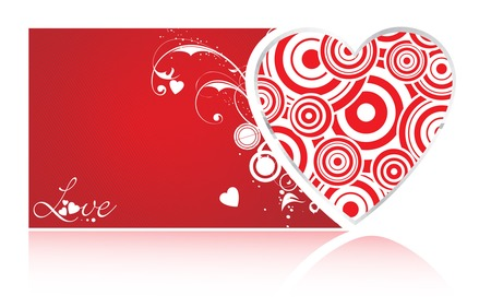 Valentine's Day Heart - valentines, hearts, red heart, valentines day, swirls, heart, swirl, love