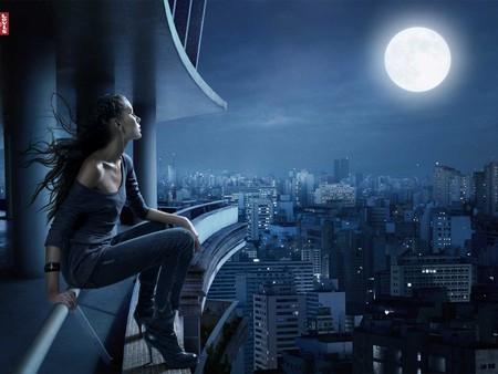 Make a Wish - moon, night, fullmoon, wish